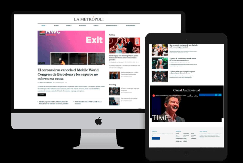 ejemplo web periódico digital la metrópoli