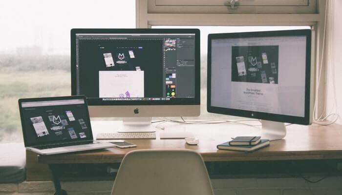 estación de trabajo diseño web